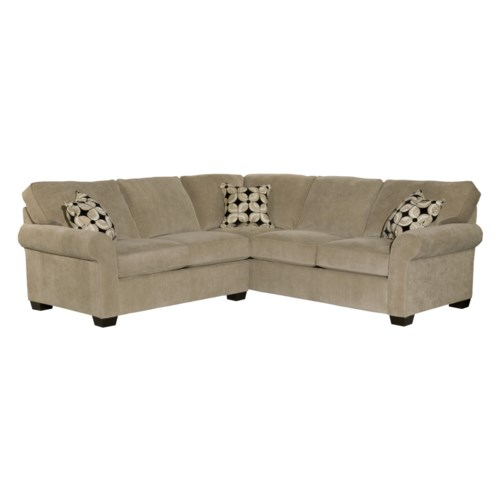 Broyhill Furniture Ethan Two Piece Sectional with Corner Sofa