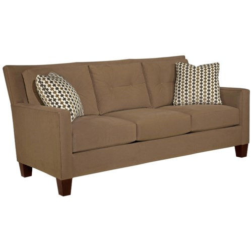 Broyhill Furniture Jevin Contemporary Sofa with Tufted Pillow Back