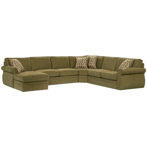 Broyhill furniture veronica chaise sectional with sleeper for Broyhill chaise lounge
