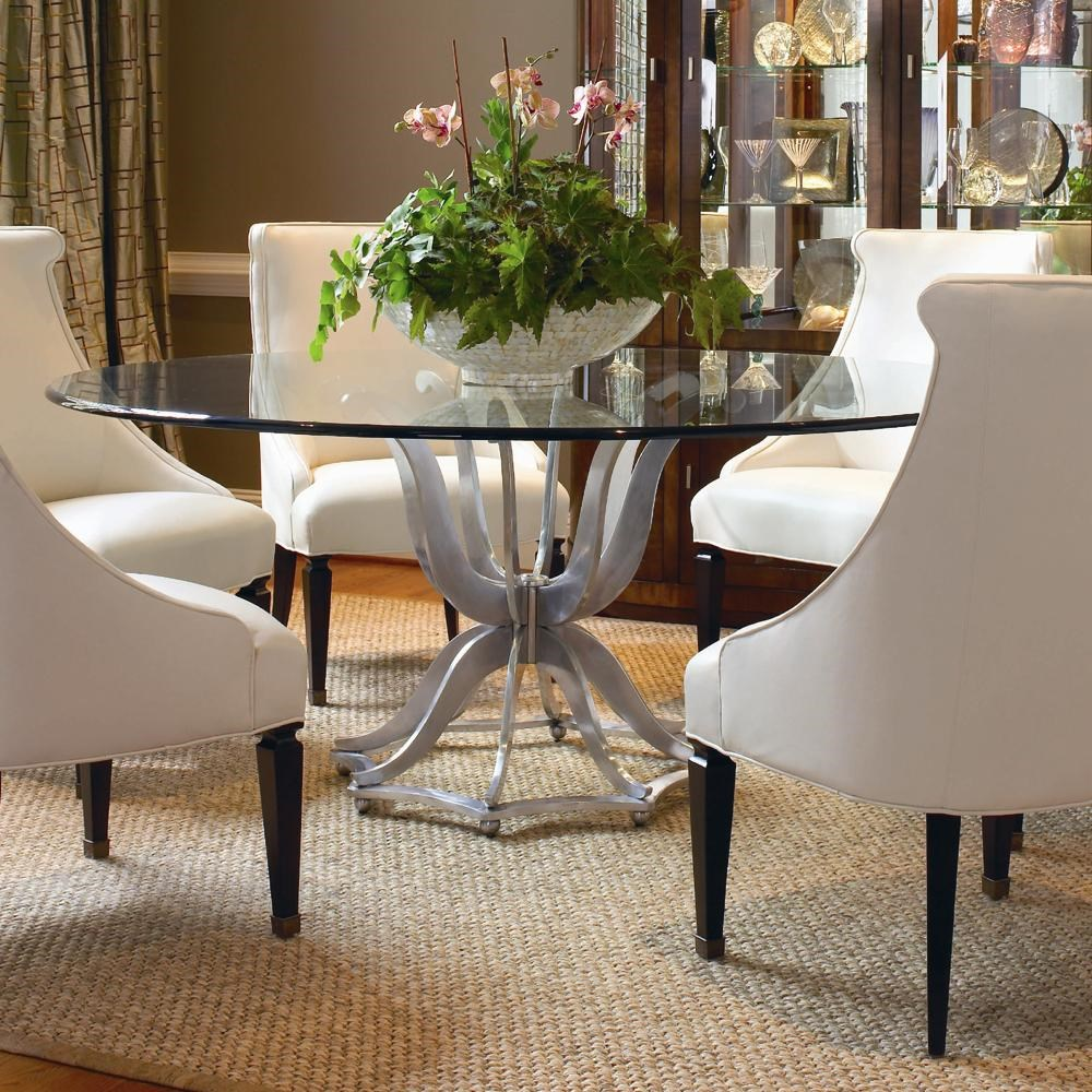 Century Omni 55a 307 Metal Base Dining Table With Glass