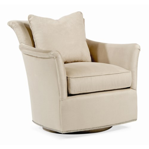 Century Elegance  Contemporary Swivel Chair with Flair Arms