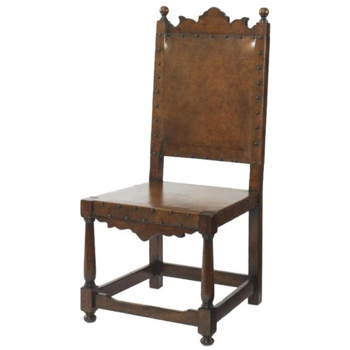 Century Marbella 661 Basilo Antique Mid-Evil Style Side Chair