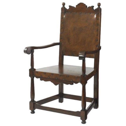 Century Marbella 661 Basilo Antique Mid-Evil Style Arm Chair