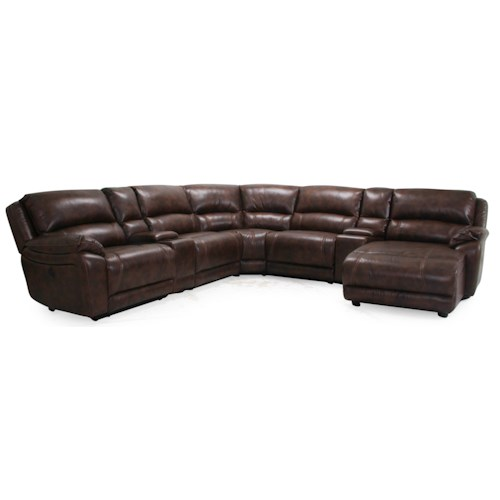 Cheers Sofa 8532 5 Seater Power Reclining Sectional Sofa with Consoles