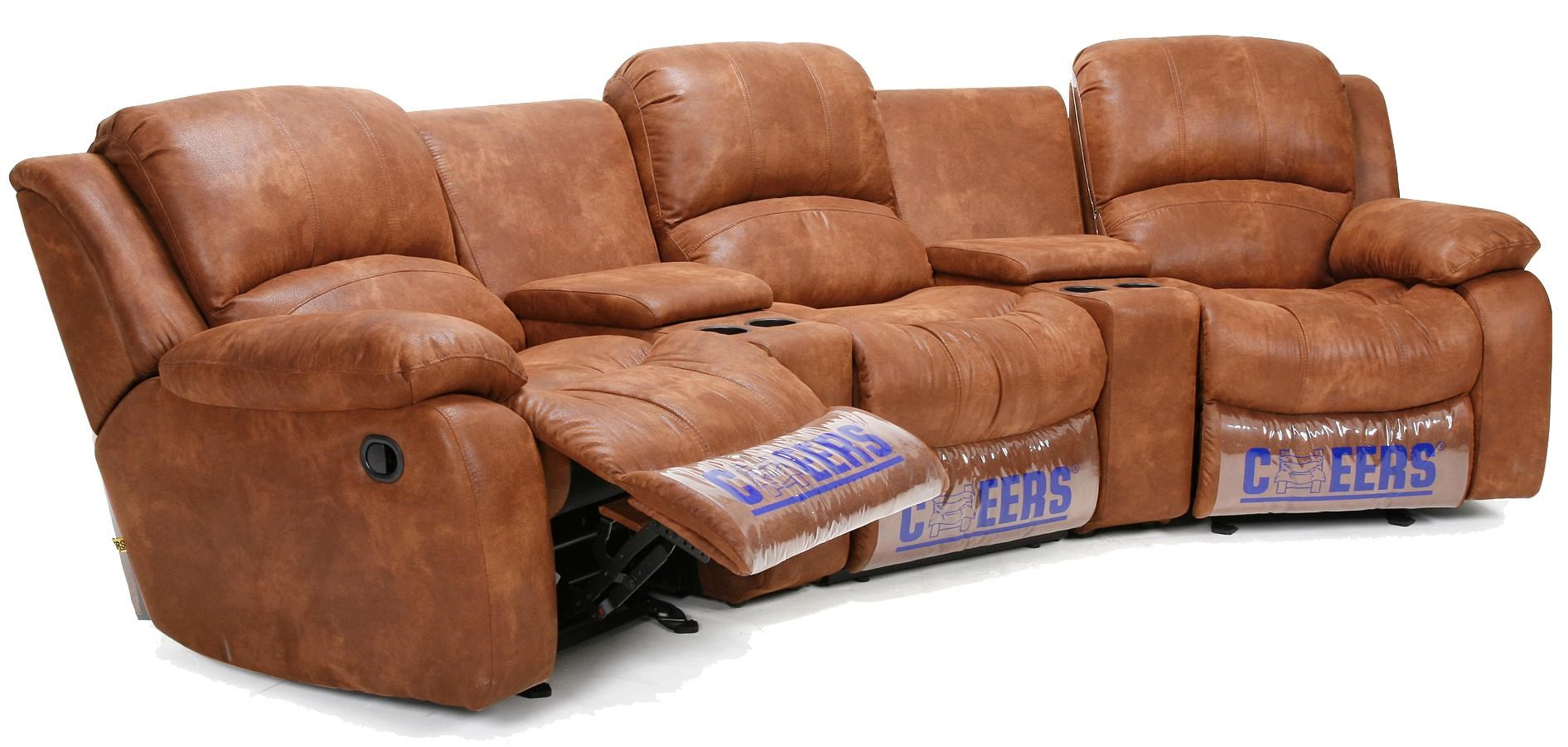 Cheers Sofa XW8251M Three Person (Double Recliner) Entertainment Room  Theater Seating