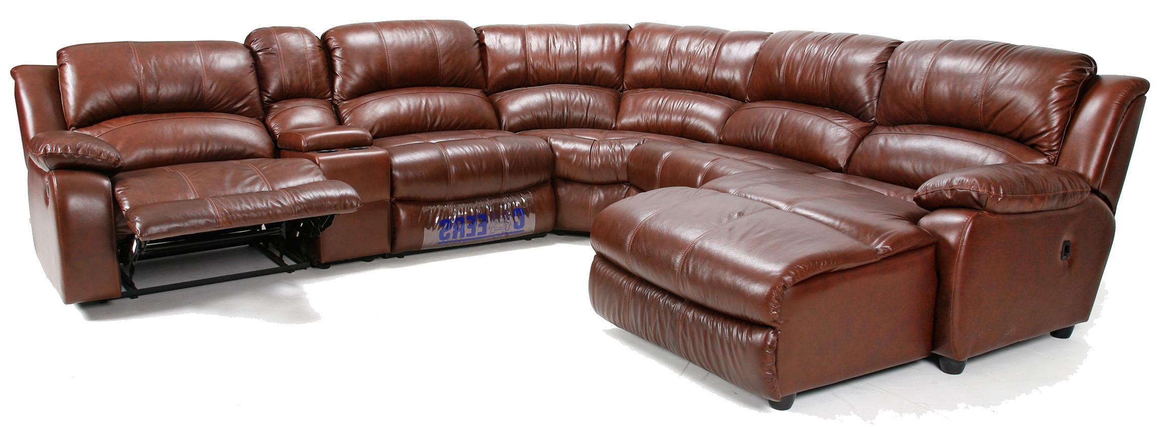 Cheers Sofa U8582 Reclining Sectional Sofa With Chaise And Console
