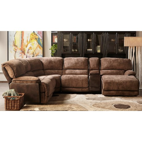 Cheers Sofa X8706M Power Reclining Sectional with RAF Chaise