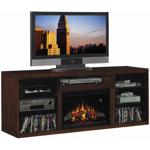 ClassicFlame Alexander Alexander Remote Operated Electric Fireplace with Media Storage