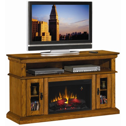 ClassicFlame Brookfield Brookfield Remote Operated Electric Fireplace with Media Storage