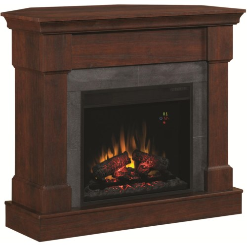 ClassicFlame Franklin Franklin Electric Fireplace for Wall or Corner Use with Faux Slate Surround