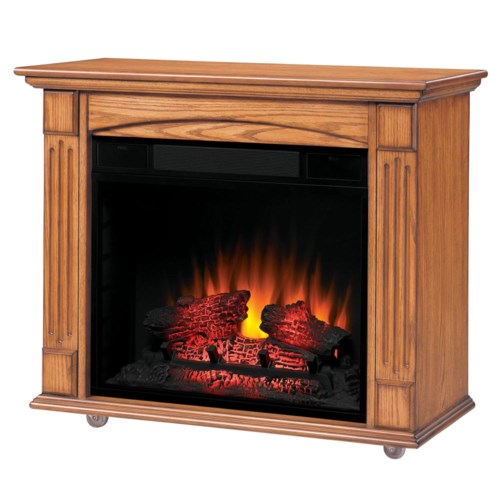ClassicFlame Lancaster Rolling Mantel Electric Fireplace