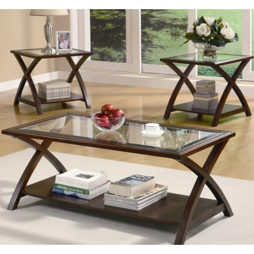 Coaster Occasional Table Sets Coffee Table and End Table Set ...