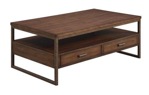 Coaster 70430 Industrial Two Drawer Coffee Table Coaster