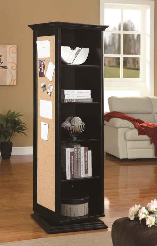 Coaster Accent Cabinets Swivel Cabinet With Storage