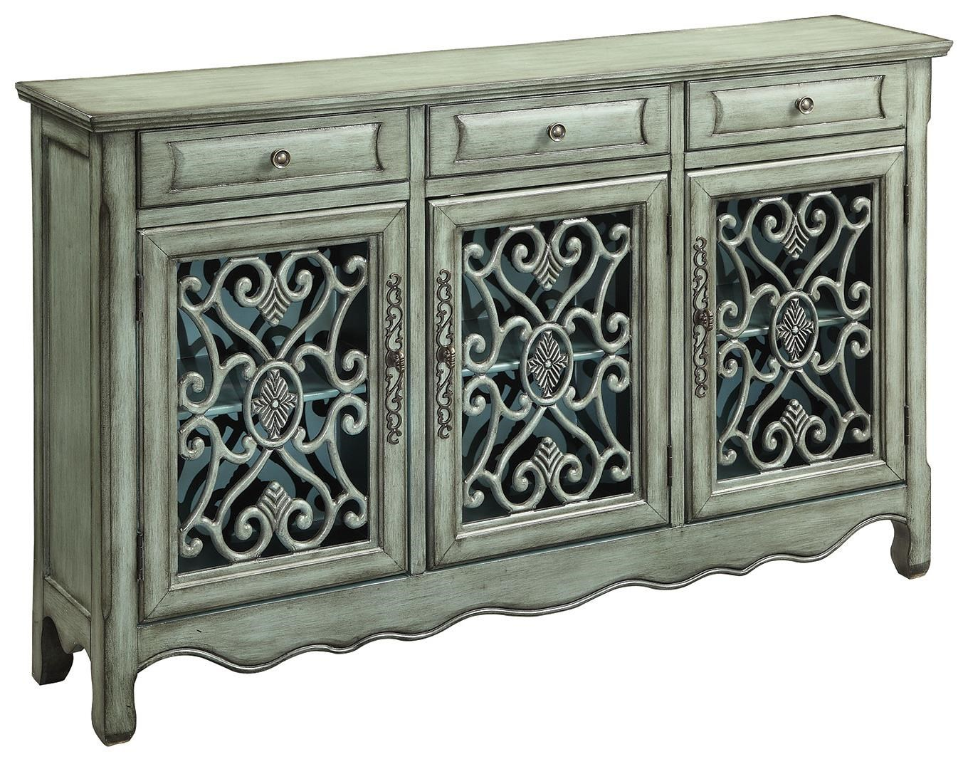 Delicieux Coaster Accent Cabinets Traditional Accent Cabinet In Antique Green Finish    Coaster Fine Furniture