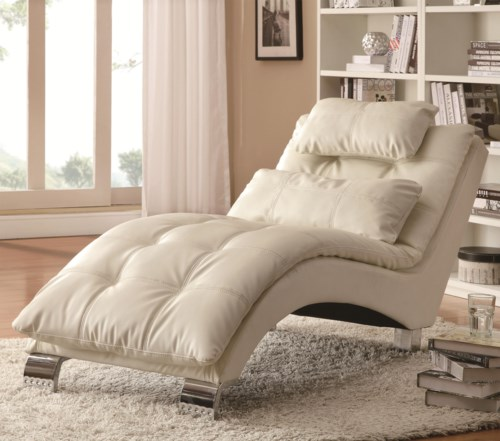Coaster Accent Seating Casual And Contemporary Living Room Chaise