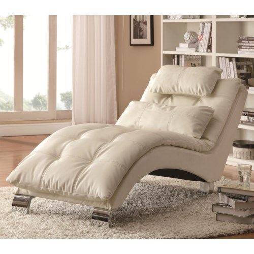 Living Room Chaise. Coaster Accent Seating Casual and Contemporary Living Room Chaise with  Sophisticated Modern Look Fine Furniture