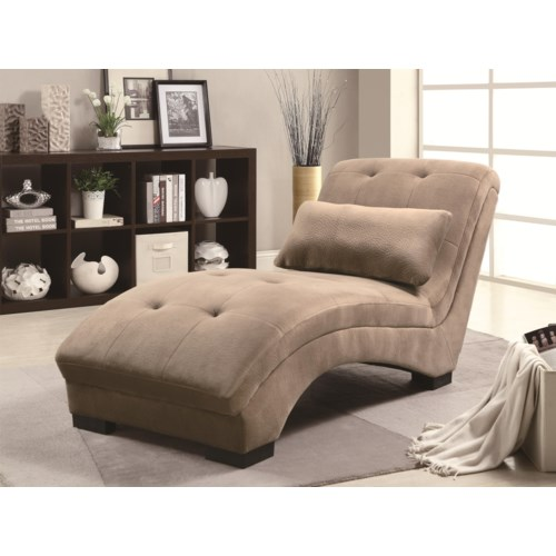 Coaster accent seating velvet lounge chaise coaster fine for Accent traditional chaise by coaster