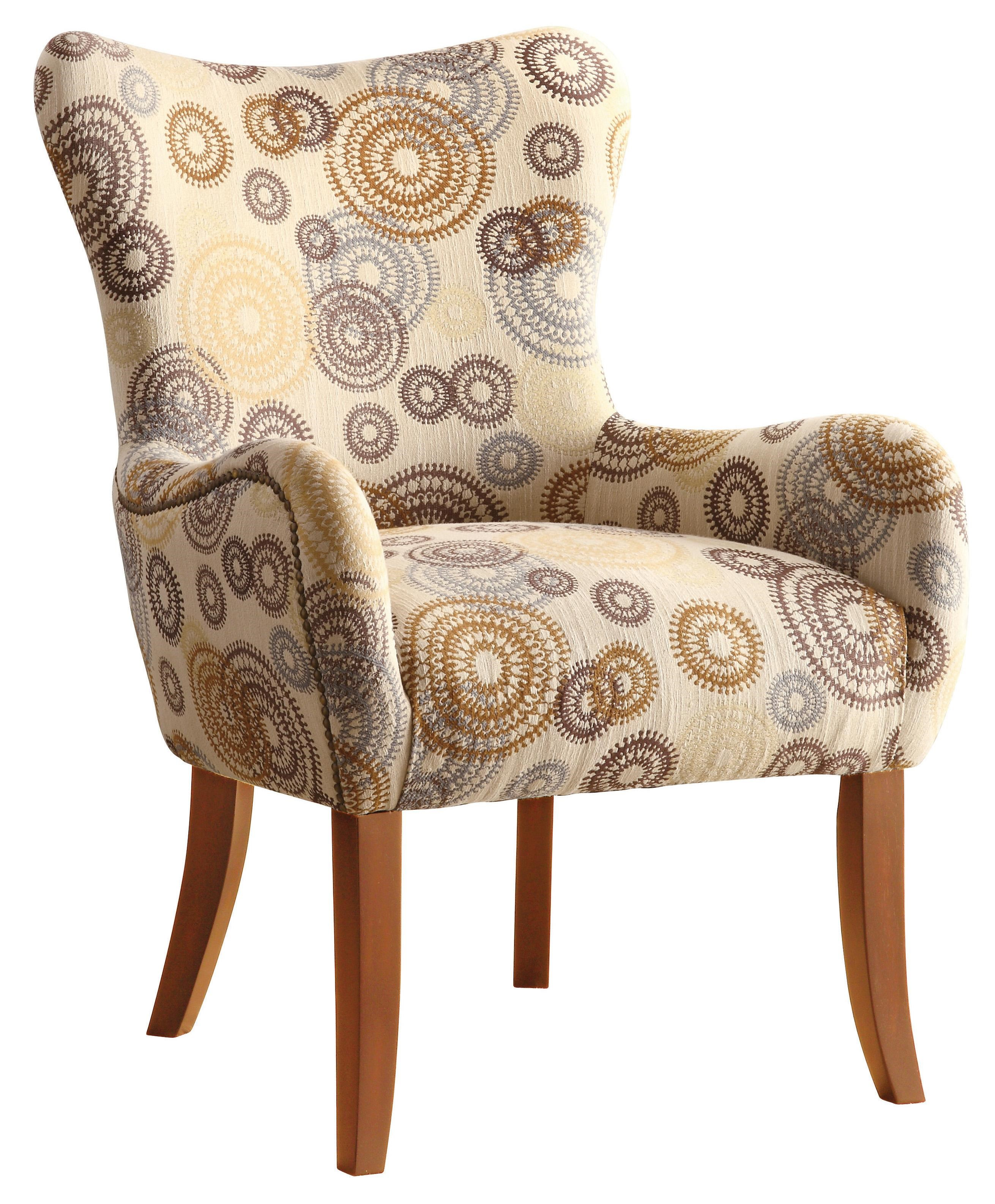 Coaster Accent Seating Accent Chair W/ Nailhead Trimming   Coaster Fine  Furniture