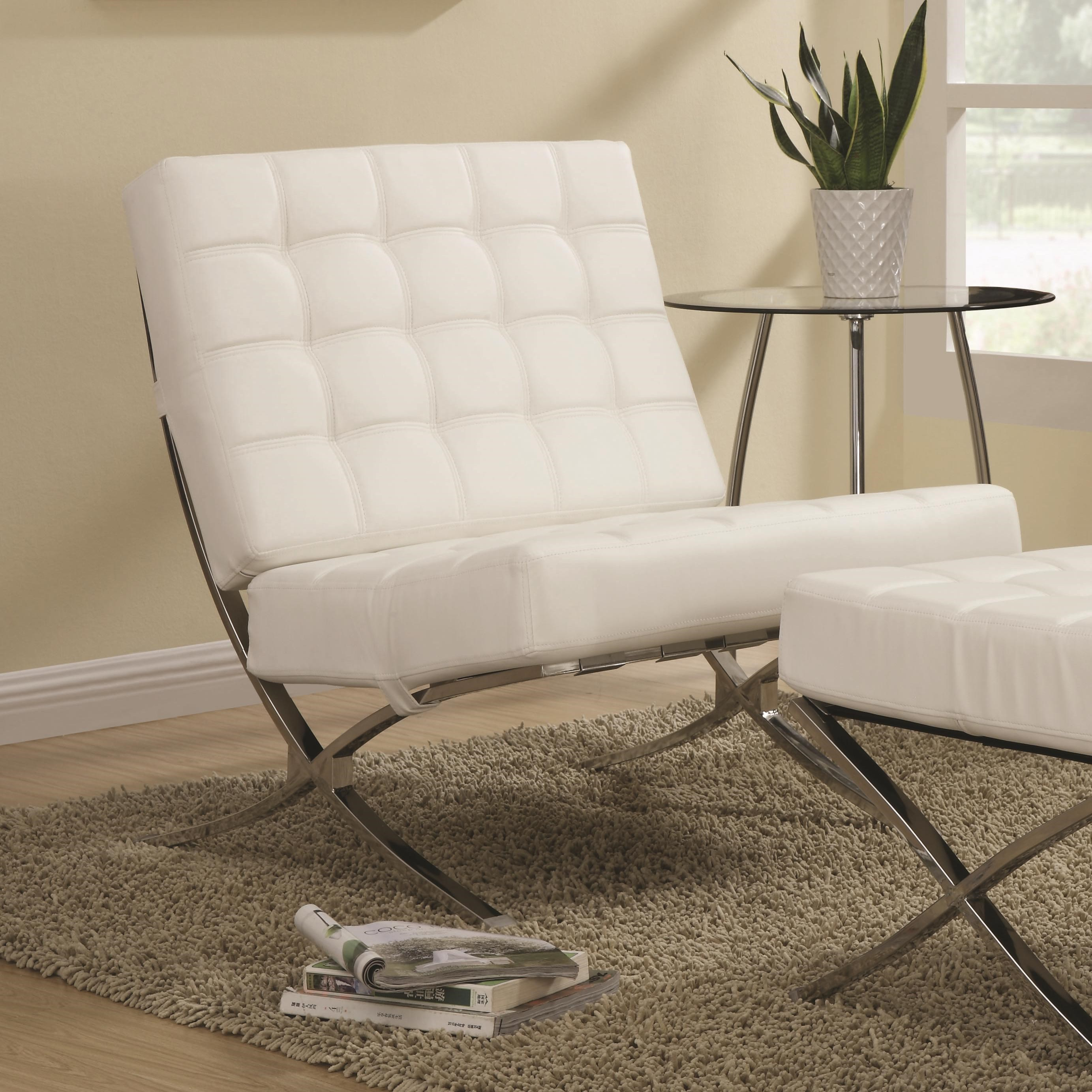 Beau Coaster Accent Seating Contemporary Waffle Accent Chair   Coaster Fine  Furniture