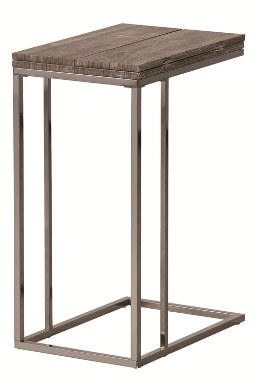 Coaster Accent Tables Weathered Snack Table Coaster Fine