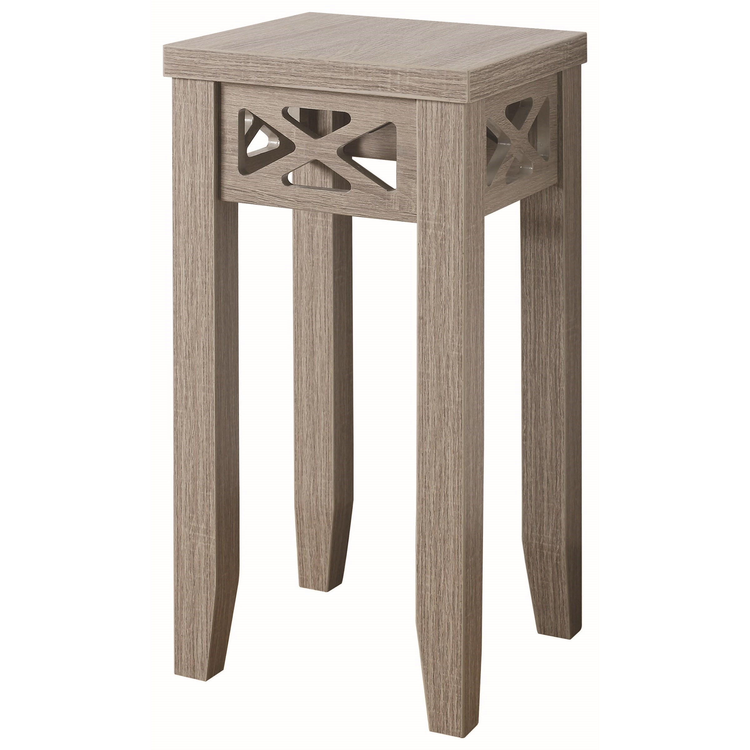 Coaster Accent Tables Accent Table With Triangle Trim Accent   Coaster Fine  Furniture