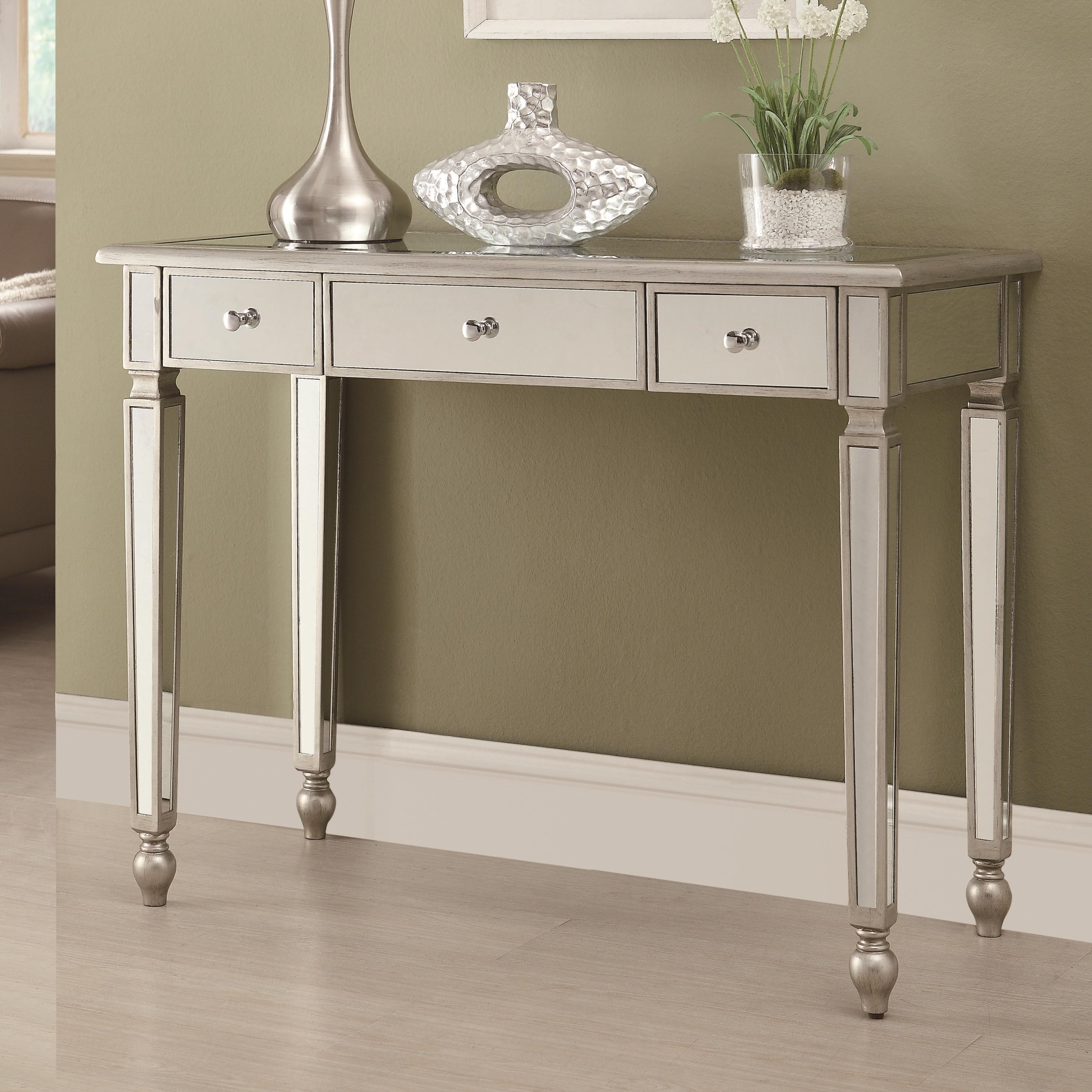 Incroyable Coaster Accent Tables Contemporary Mirrored Sofa Table   Coaster Fine  Furniture