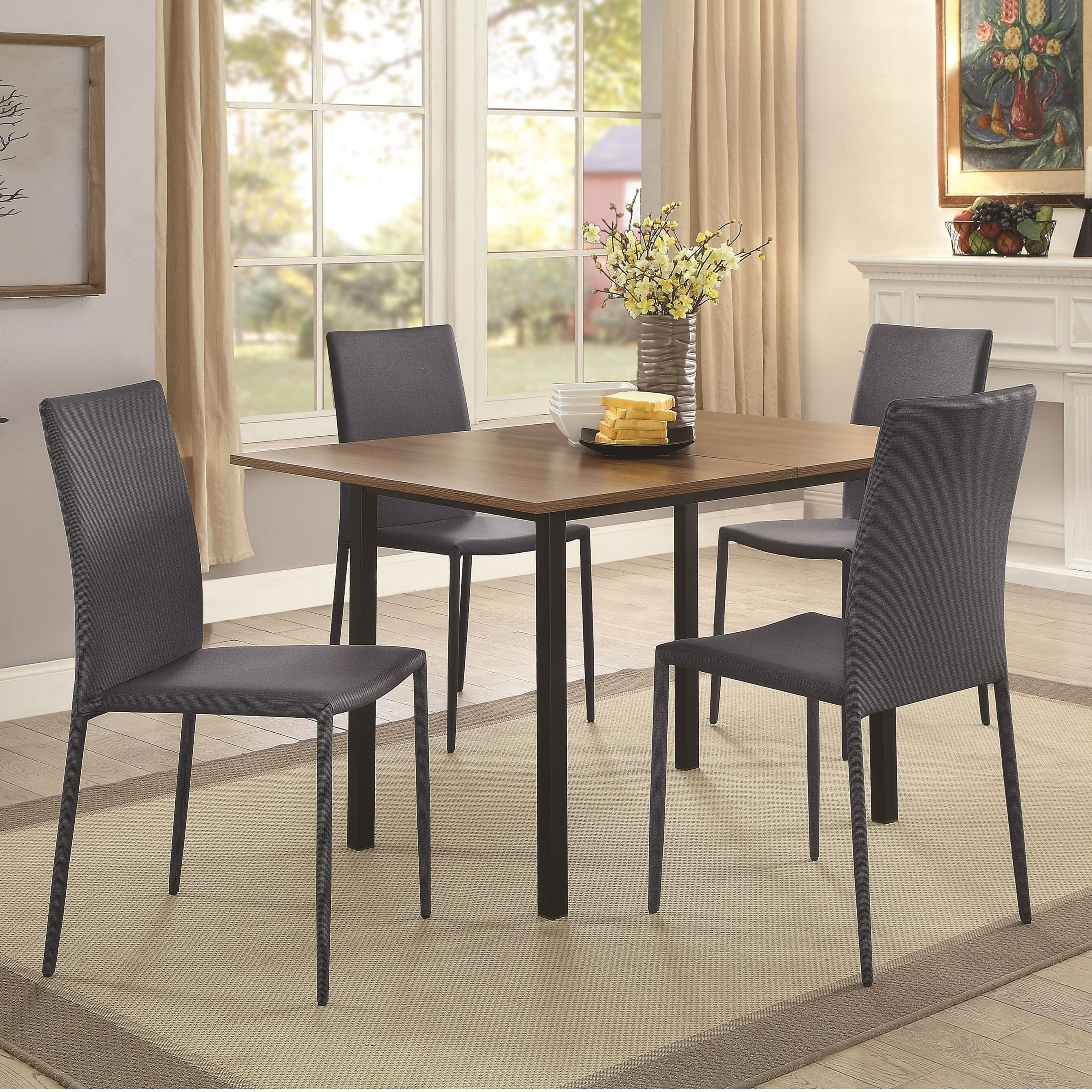 Coaster Adler Space Saving 5 Piece Dining Table Set   Coaster Fine Furniture