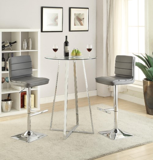 Coaster Bar Units and Bar Tables Glass Bar Height Dining Set Coaster Fine Furniture