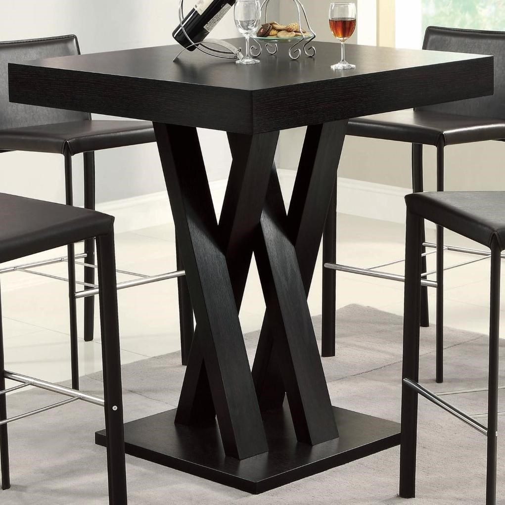 Coaster Bar Units And Bar Tables Crisscross Bar Table With Square Table Top    Coaster Fine Furniture