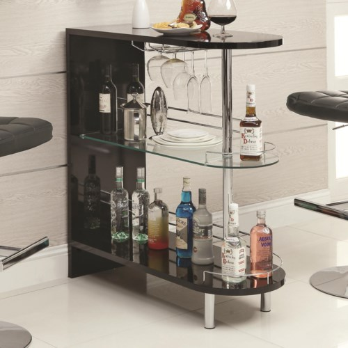 Black Home Bar Furniture: Coaster Bar Units And Bar Tables Contemporary Black Bar