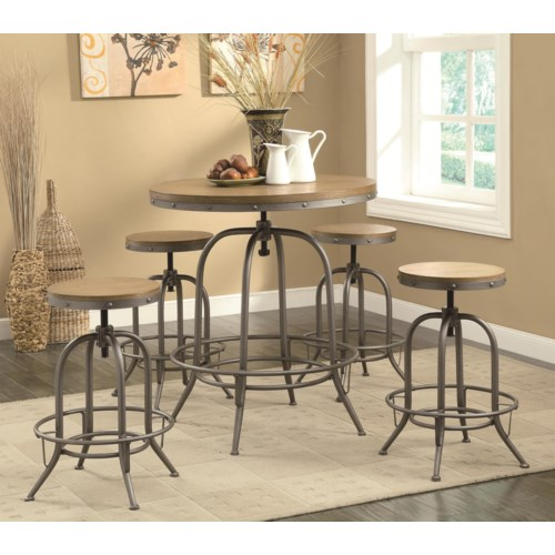 Coaster Pub Table And Stool Set - Find a Local Furniture Store with ...