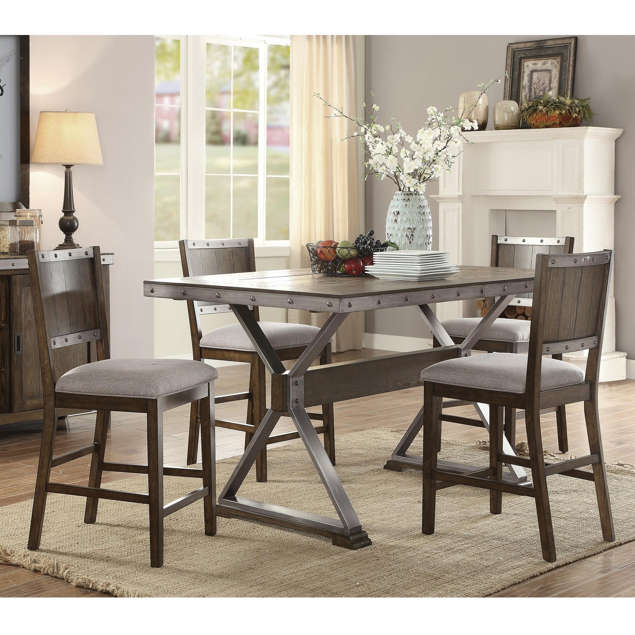 Coaster Beckett Rustic Counter Height Dining Set   Coaster Fine Furniture