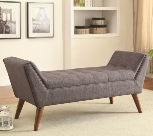 Coaster Benches Mid Century Modern Upholstered Accent
