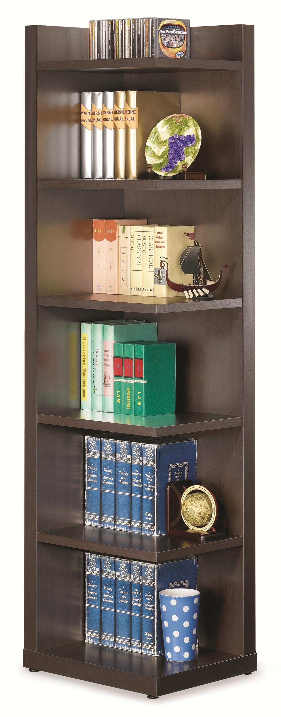 Awesome Bookcases Corner Bookcase With Open Side. Part Of The Bookcases Collection  By Coaster
