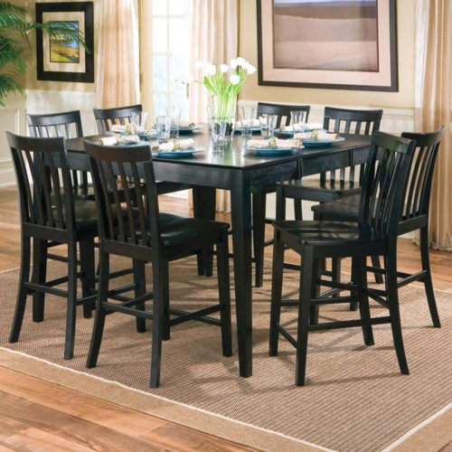 Coaster pines 9 piece counter height dining set coaster for 9 piece dining room set counter height