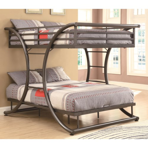 Coaster Bunks Full-over-Full Contemporary Bunk Bed - Coaster Fine Furniture