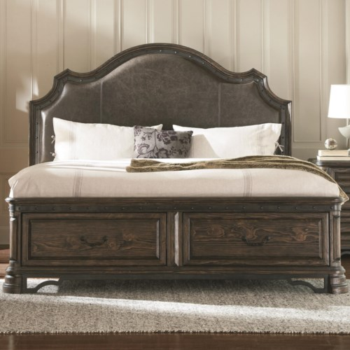 Carlsbad Dark Brown King Bed