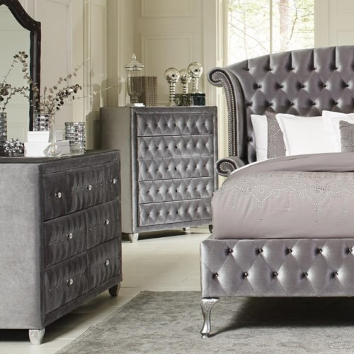 Coaster Deanna Upholstered Chest With Five Drawers