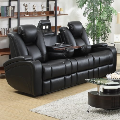 Coaster Delange Reclining Power Sofa With Adjustable
