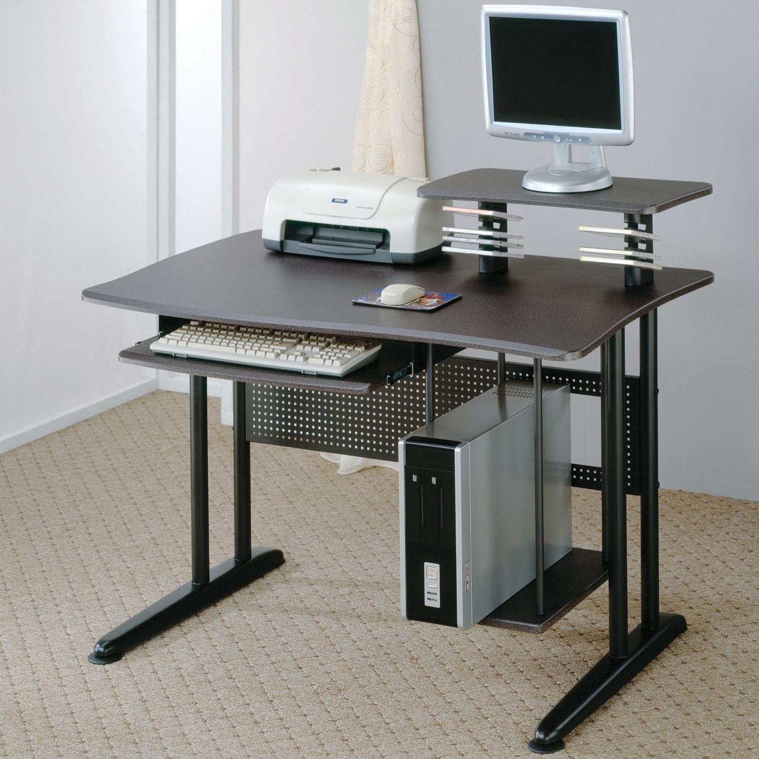 coaster contemporary computer workstation office desk table. Coaster Contemporary Computer Desk With Keyboard Tray And Storage - Fine Furniture Workstation Office Table T