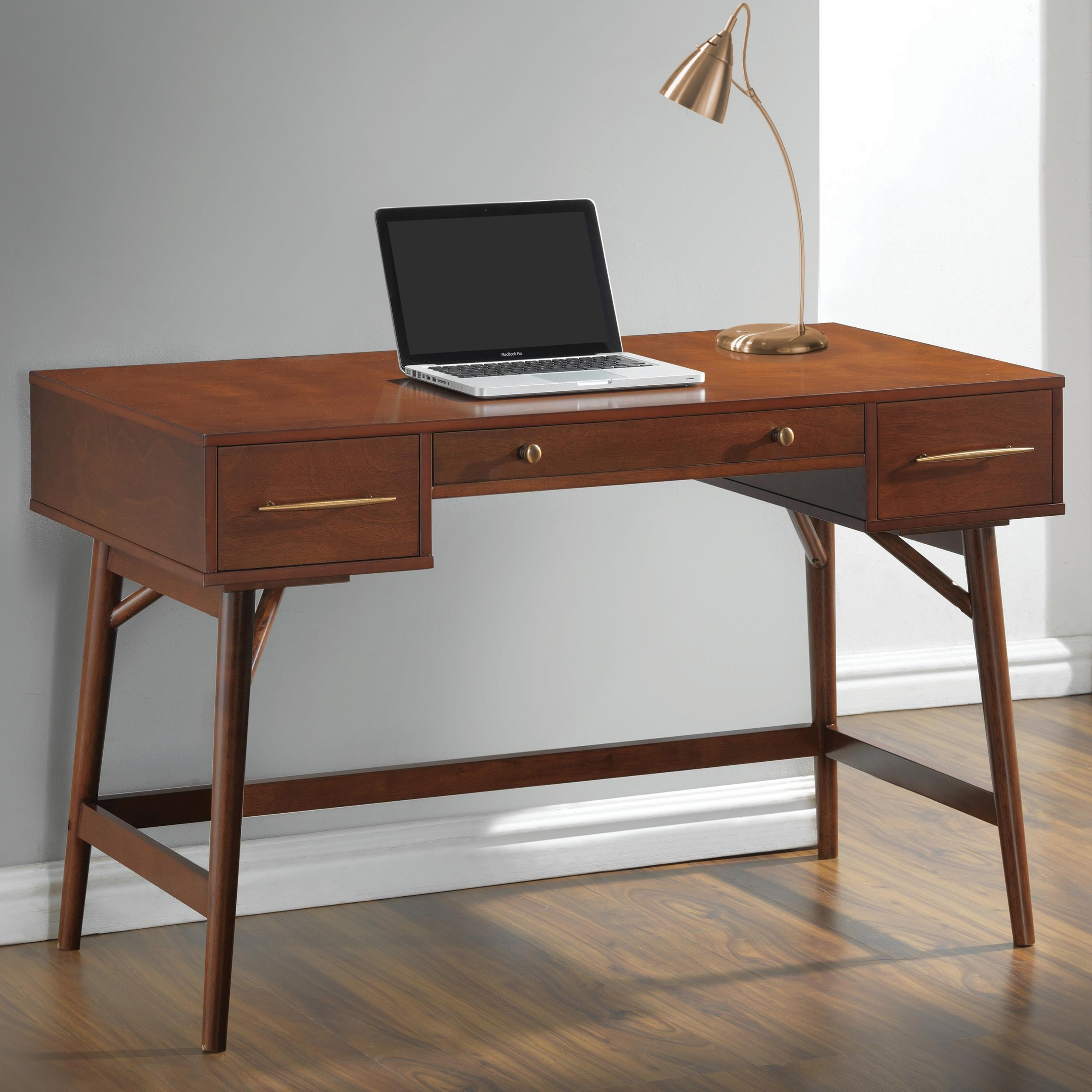coaster midcentury modern writing desk with 3 drawers coaster fine furniture