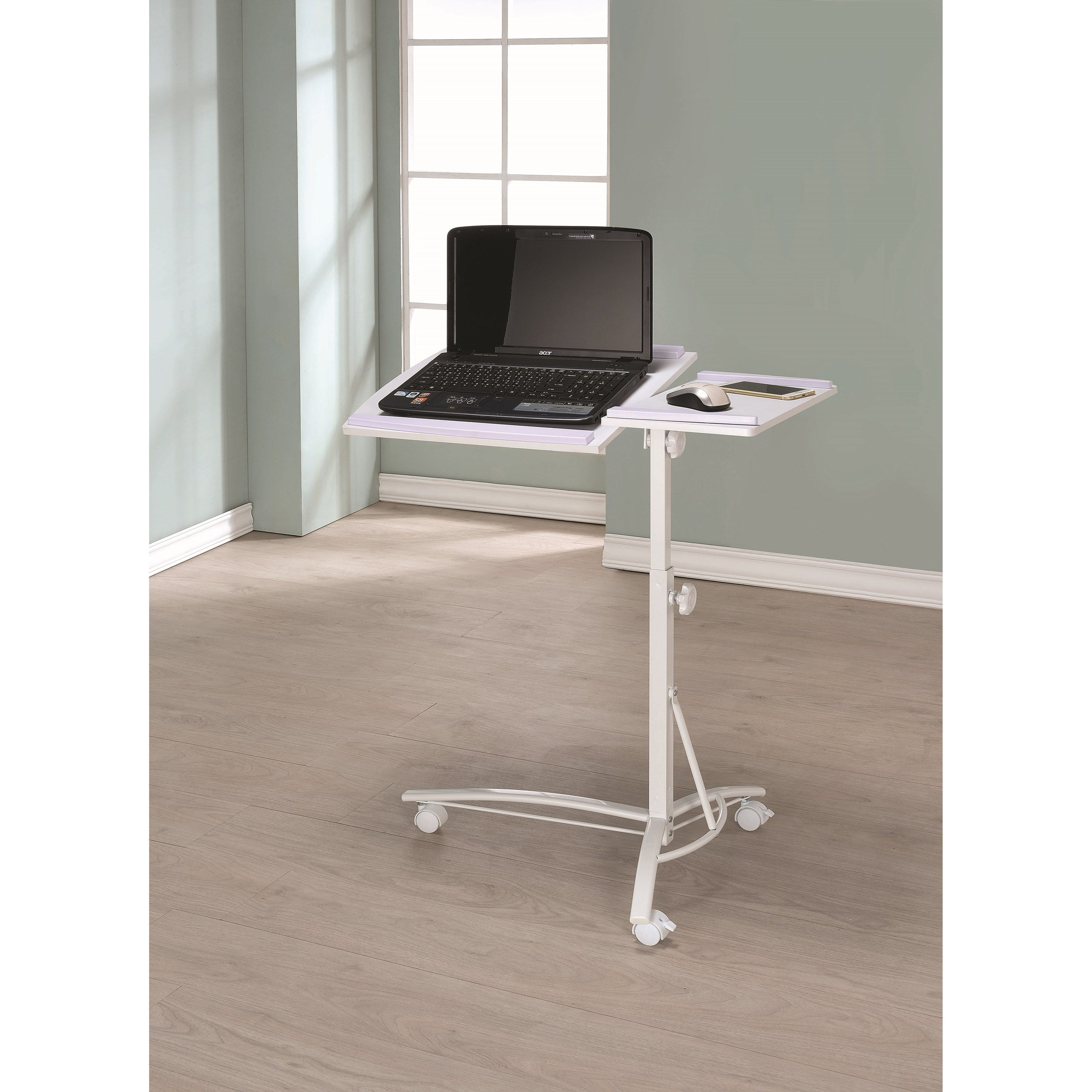 Coaster Laptop Computer Stand With Adjustable Swivel Top And Casters    Coaster Fine Furniture
