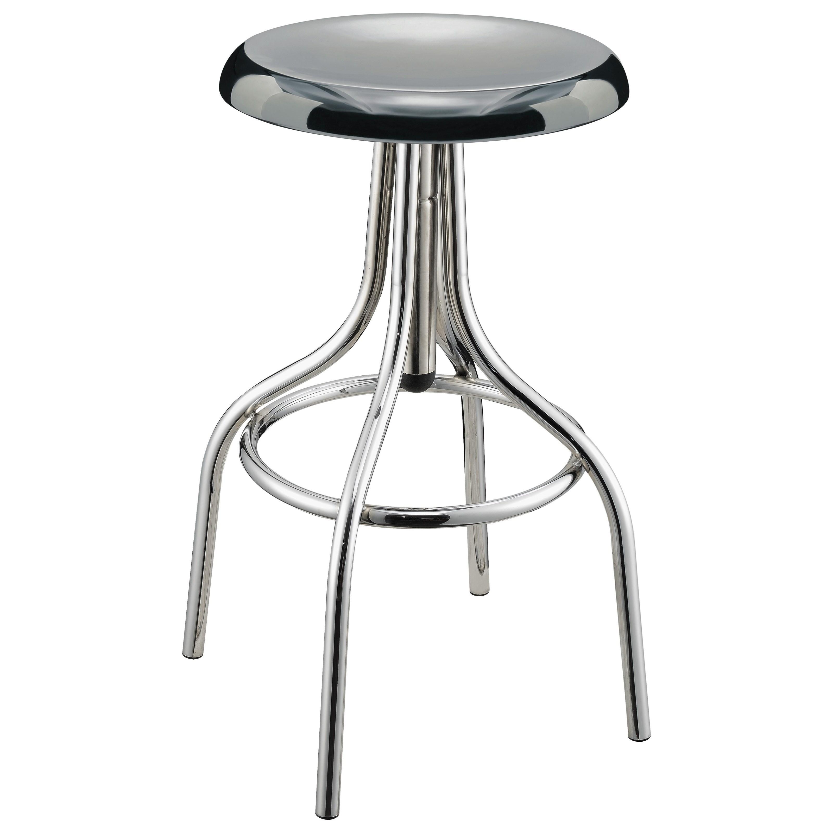 Coaster Dining Chairs And Bar Stools Chrome Backless Bar Stool   Coaster  Fine Furniture
