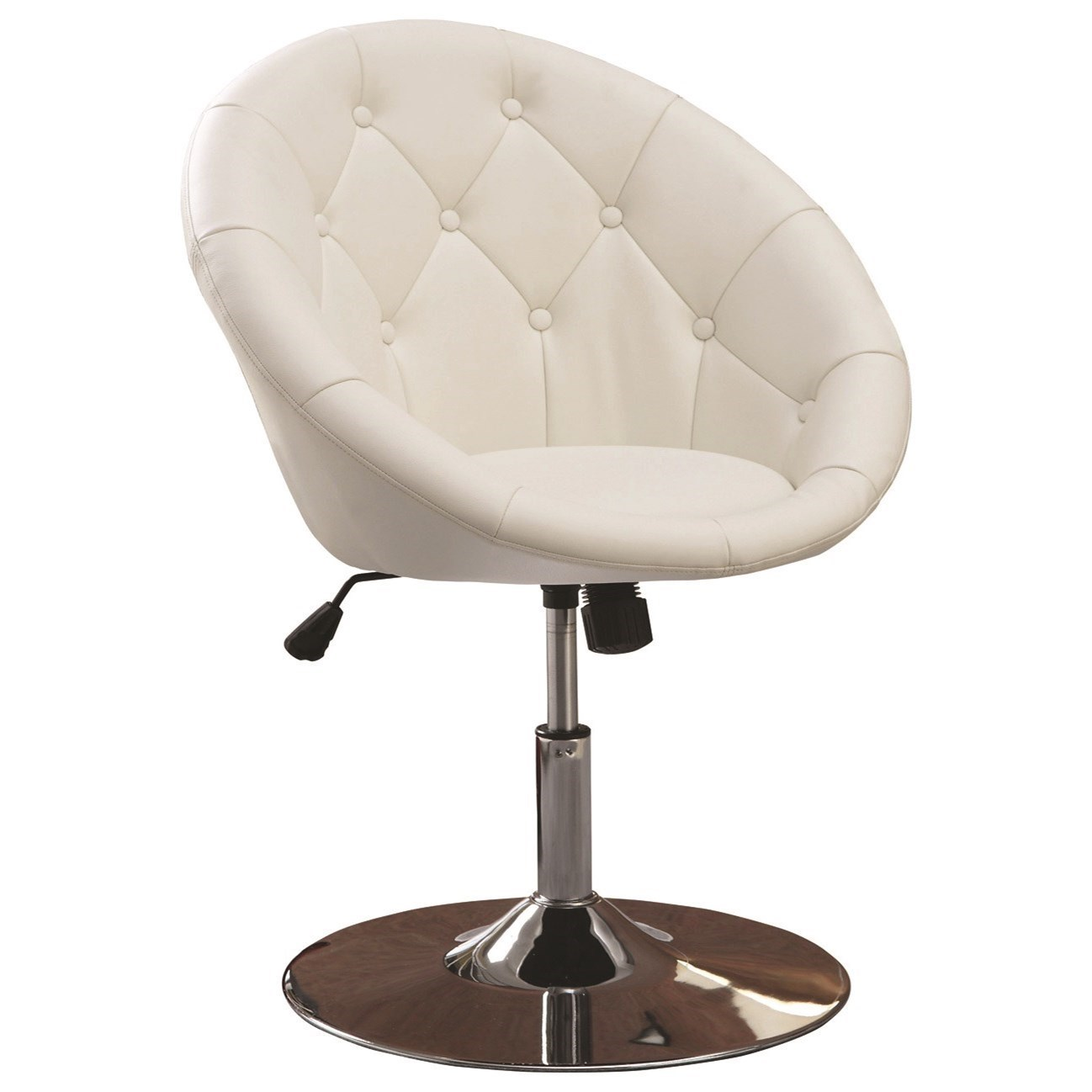 Coaster Dining Chairs and Bar Stools Contemporary Round Tufted White Swivel Chair - Coaster Fine Furniture  sc 1 st  Coaster Fine Furniture & Coaster Dining Chairs and Bar Stools Contemporary Round Tufted White ...