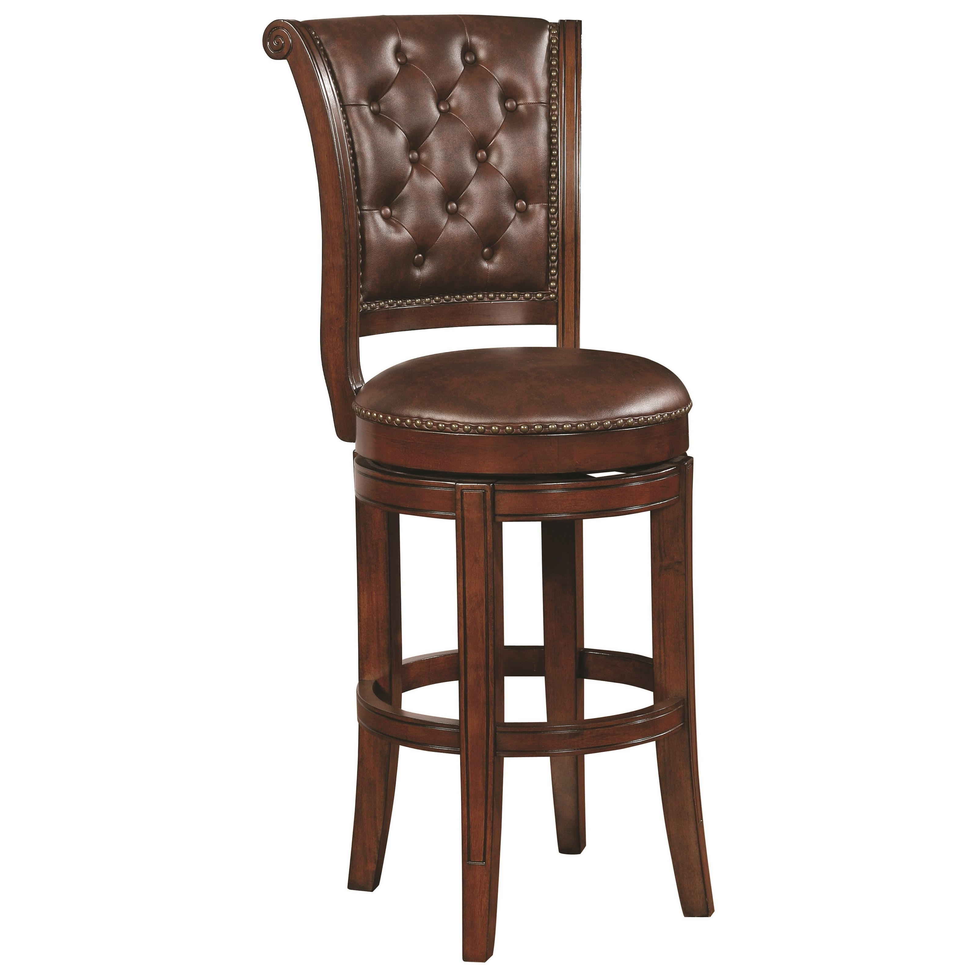 Coaster Dining Chairs And Bar Stools Traditional Bar Stool With Button  Tufting   Coaster Fine Furniture