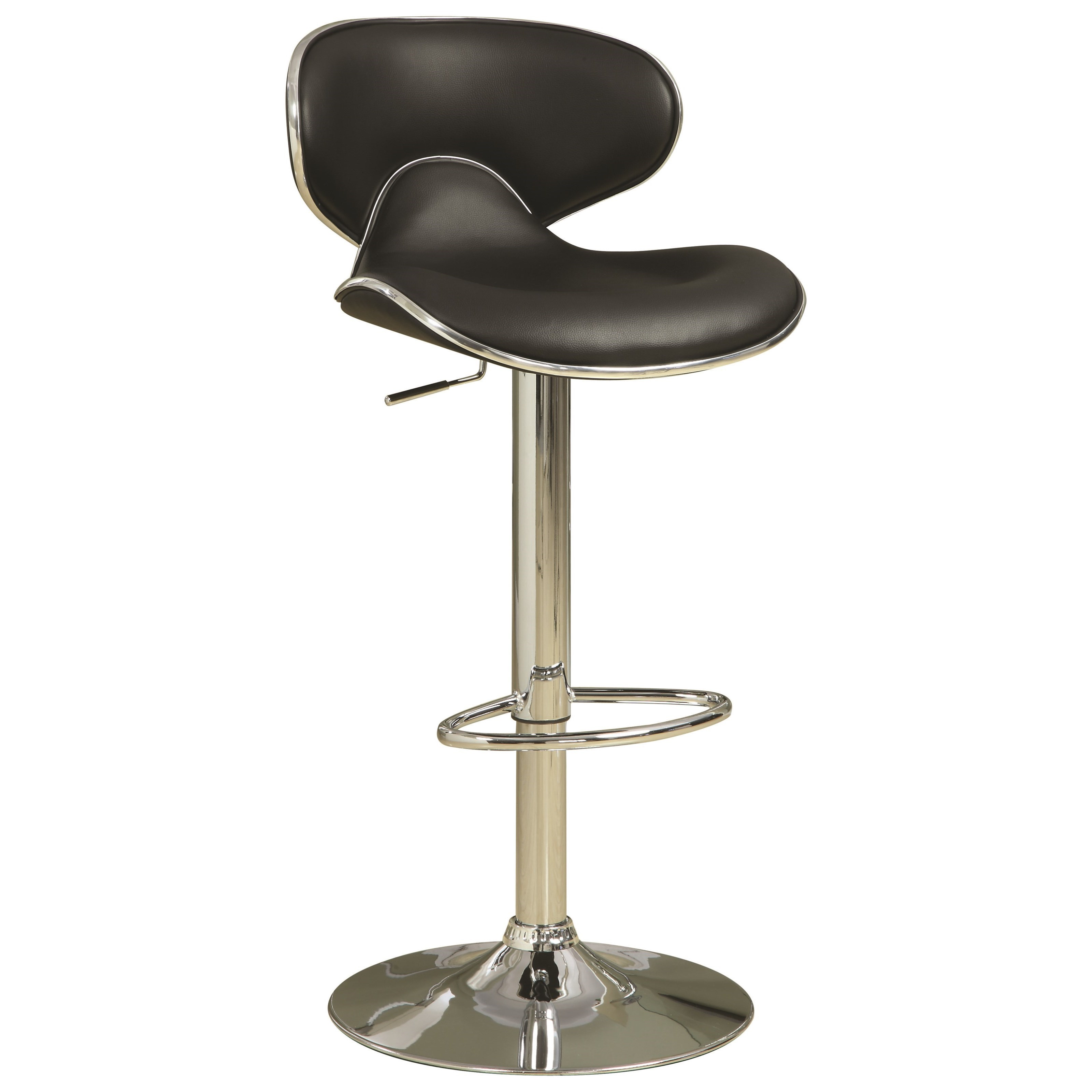 Coaster Dining Chairs And Bar Stools Adjustable Height Contemporary Bar  Stool With Swivel Seat   Coaster Fine Furniture