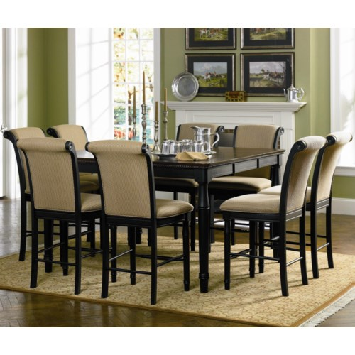 Coaster cabrillo 9 piece counter height dining set del for 9 piece dining room set counter height