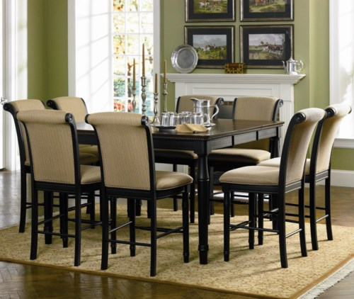 coaster cabrillo 9 piece counter height dining set - coaster fine