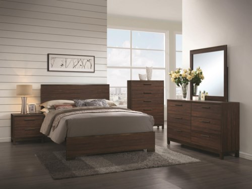 Bedroom Furniture Edmonton coaster edmonton king bedroom group - coaster fine furniture